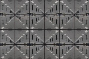 3 kafelki ze wzorem