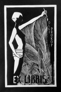 Ex Libris - linoryt 230 x 165 mm