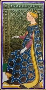 karta tarota Królowa Denarów