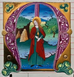 Maria Magdalena i inicjał M
