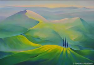 galeriaLa bella Toscana - Primavera, 80x100, olej na plotnie, 2014